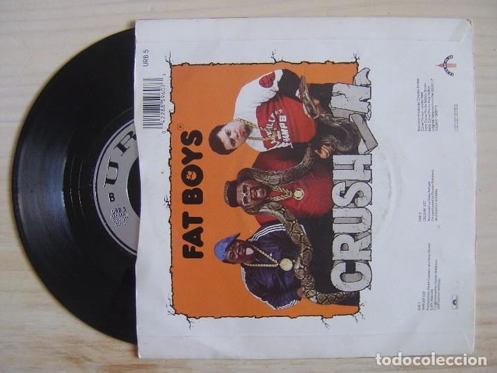 Discos de vinilo: FAT BOYS - Wipeout + crushin - SINGLE USA 1987 - URBAN - Foto 2 - 118255767