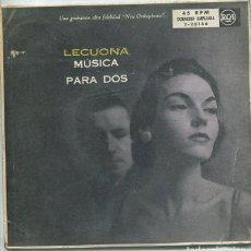 Disques de vinyle: ERNESTO LECUONA (MUSICA PARA DOS) MUÑECA DE CRISTAL /ZAMBRA GITANA + 3 (EP 1958). Lote 118275591
