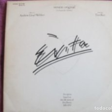 Discos de vinilo: LP - EVITA (VERSION ORIGINAL) - LLOY WEBBER/TIM RICE (DOBLE DISCO CON LIBRETO, SPAIN, MCA 1977). Lote 118278691