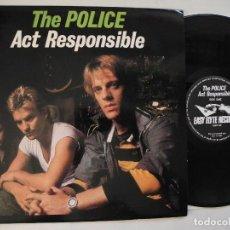 Discos de vinilo: THE POLICE RARE LIVE LP: ACT RESPONSIBLE LP USA 1986 WITH BONO (U2). Lote 118290227