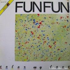 Discos de vinilo: FUN FUN – COLOR MY LOVE. MAXI SINGLE EN VINILO.. Lote 118293347