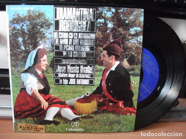 EP DIAMANTINA RODRÍGUEZ FOLKLORE TONADA ASTURIAS COMO NUEVO¡¡ (Música - Discos de Vinilo - EPs - Country y Folk)