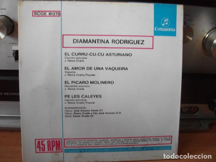 Discos de vinilo: EP DIAMANTINA RODRÍGUEZ FOLKLORE TONADA ASTURIAS COMO NUEVO¡¡ - Foto 2 - 118295587