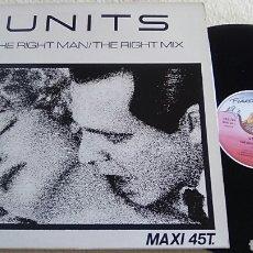 Discos de vinilo: UNITS MAXI SINGLE FRANCE. Lote 118297179