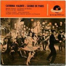 Discos de vinilo: CATERINA VALENTE - CASINO DE PARÍS (BSO) - EP SPAIN 1958 - . Lote 118313327
