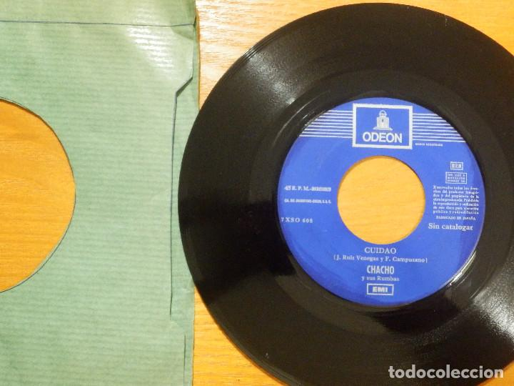 DISCO VINILO - SINGLE - CHACHO Y SUS RUMBAS - CUIDADO - ARRIBA CON EL - JUKEBOX - SIN CATALOGAR - (Música - Discos - Singles Vinilo - Flamenco, Canción española y Cuplé)