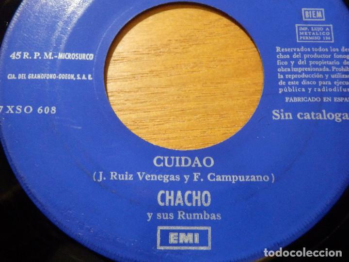 Discos de vinilo: Disco Vinilo - SINGLE - CHACHO Y SUS RUMBAS - CUIDADO - ARRIBA CON EL - JUKEBOX - SIN CATALOGAR - - Foto 2 - 118318239