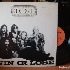 Discos de vinilo: MAGI WIN OR LOSE LP AUSTRIA 1987 PEPETO TOP. Lote 118344547