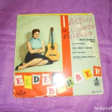 Discos de vinilo: ELDER BARBER. I FESTIVAL CANCION ESPAÑOLA, BENIDORM 1959. LA MONTAÑA + 3. EP. HISPAVOX, 1959. Lote 118349067