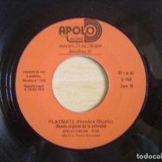 Discos de vinilo: PLAYMATE - ROMANTIC LOVER + DISCO CIRCUS - TEMA DE LA PELICULA HOMBRE OBJETO - SINGLE 1978 - APOLO. Lote 118350523