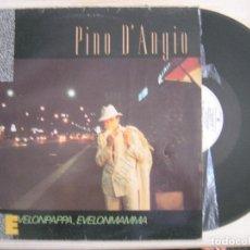 Discos de vinilo: PINO D´ANGIO - EVELONPAPPA, EVELONMAMMA - MAXISINGLE 45 1983 - WEA. Lote 118385215