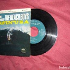 Discos de vinilo: THE BEACH BOYS EP SURFIN´USA + 3 SPA 1963 VER FOTOS. Lote 118385255