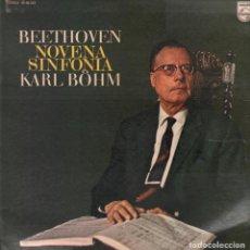 Discos de vinilo: BEETHOVEN - KARL BOHM / NOVENA SINFONIA / LP PHILIPS RF-5530 , DOBLE PORTADA. Lote 118435431