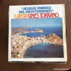Discos de vinilo: GINÉS TORRANO - ÁGUILAS, PARAÍSO DEL MEDITERRÁNEO / JOTA DE ÁGUILAS - SINGLE MOVIEPLAY 1975. Lote 118435943