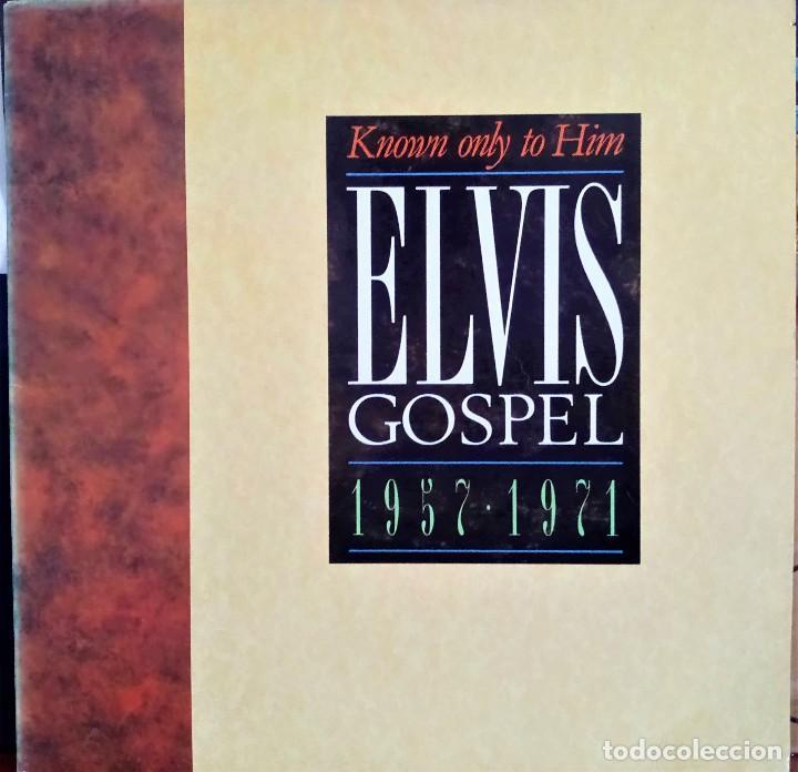 ELVIS PRESLEY - KNOWN ONLY TO HIM - GOSPEL 1957-1971 - CANADA 1988 LP (Música - Discos - LP Vinilo - Rock & Roll)