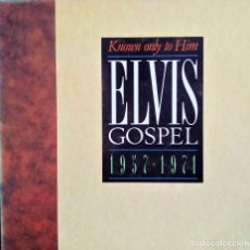 Discos de vinilo: ELVIS PRESLEY - KNOWN ONLY TO HIM - GOSPEL 1957-1971 - CANADA 1988 LP. Lote 118446659