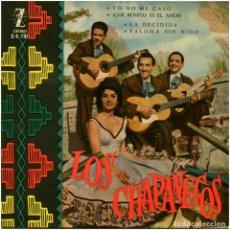 Discos de vinilo: LOS CHAPANECOS (NITA DEL PINO) - YO NO ME CASO - EP SPAIN 1960 - ZAFIRO Z-E 121 . Lote 118457863