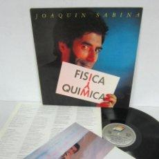 Discos de vinilo: JOAQUIN SABINA - FISICA Y QUIMICA - LP - ARIOLA 1992 SPAIN ORIGINAL CON LETRAS + INSER7. Lote 118469111
