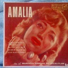 Discos de vinilo: AMALIA MENDOZA - LA VIUDA ABANDONADA + 3 - RCA VICTOR MKE-311 RARISIMA EDICION DE MEXICO. Lote 118471375