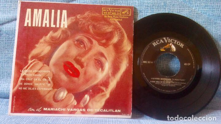 Discos de vinilo: AMALIA MENDOZA - LA VIUDA ABANDONADA + 3 - RCA VICTOR MKE-311 RARISIMA EDICION DE MEXICO - Foto 5 - 118471375