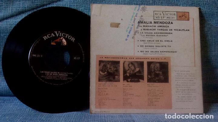 Discos de vinilo: AMALIA MENDOZA - LA VIUDA ABANDONADA + 3 - RCA VICTOR MKE-311 RARISIMA EDICION DE MEXICO - Foto 6 - 118471375
