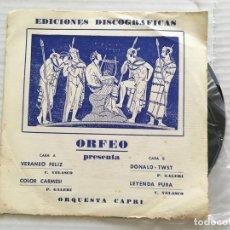Discos de vinilo: 7 SINGLE-ORFEO PRESENTA-VERANO FELIZ. Lote 118475799