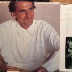 Discos de vinilo: JAMES TAYLOR - THAT'S WHY I'M HERE !! RARA 1ª EDIC ORG USA + ENCARTE 1ª PRENSAJE, TODO EXC !!!. Lote 118486907