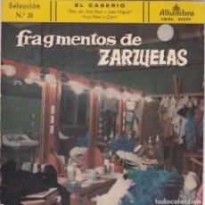 Discos de vinilo: ATAULFO ARGENTA,FRAGMENTOS DE ZARZUELAS EL CASERIO SELECCION Nº 31 DEL 59. Lote 118523251