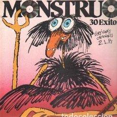 Discos de vinilo: MONSTRUO. 30 ÉXITOS. CONTIENE 2 LP'S D-VARIOS-758. Lote 118545339