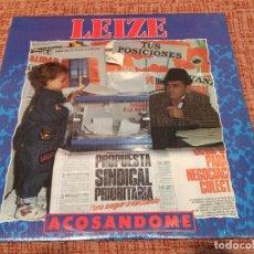 Discos de vinilo: LEIZE -ACOSÁNDOME- (1991) LP DISCO VINILO. Lote 118556571