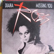 Discos de vinilo: DIANA ROSS - MISSING YOU / WE ARE THE CHILDREN OF THE WORLD (SINGLE ESPAÑOL, CAPITOL 1985). Lote 118563603