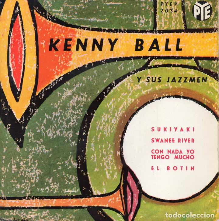 KENNY BALL Y SUS JAZZMEN, EP, SUKIYAKI + 3, AÑO 1963 (Música - Discos de Vinilo - EPs - Jazz, Jazz-Rock, Blues y R&B)