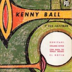 Discos de vinilo: KENNY BALL Y SUS JAZZMEN, EP, SUKIYAKI + 3, AÑO 1963. Lote 118564491