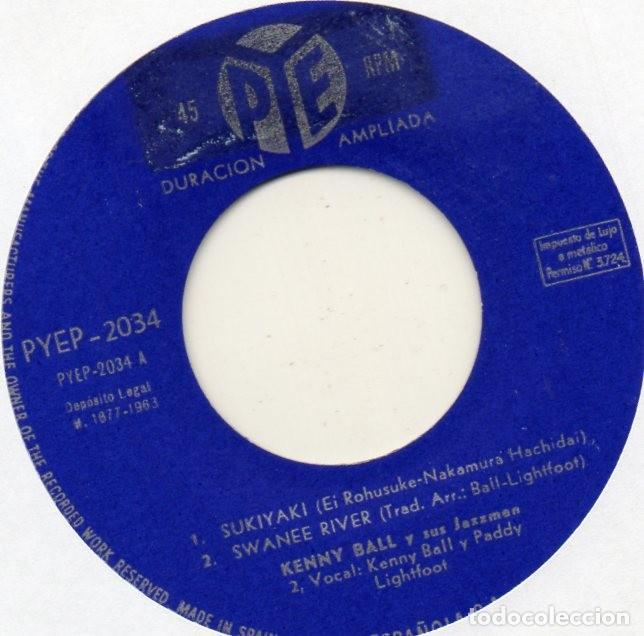 Discos de vinilo: KENNY BALL y sus Jazzmen, EP, SUKIYAKI + 3, AÑO 1963 - Foto 3 - 118564491