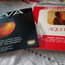 Discos de vinilo: LOTE 2 VINILOS. EVA Y AQUÍ PARÍS. Lote 118575808