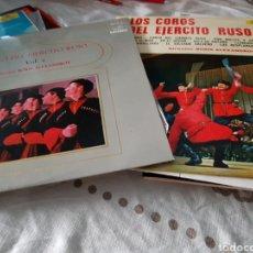 Discos de vinilo: LOTE 2 VINILOS DEL CORO DEL EJERCITO RUSO. Lote 118576371