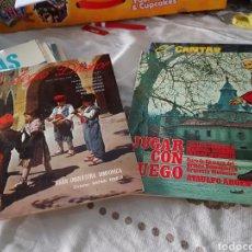 Discos de vinilo: LOTE 2 VINILOS. LA LEGIÓ D'HONOR Y JUGAR CON FUEGO. Lote 118577016