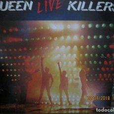 Discos de vinilo: QUEEN - LIVE KILLERS DOBLE LP - ORIGINAL U.S.A. - ELEKTRA RECORDS 1979 CON FUNDAS INTS. ORIGINALES.. Lote 118578435