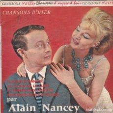 Discos de vinilo: ALAIN NANCEY,LE TEMPS DES CERISES EDICION FRANCESA. Lote 118582975