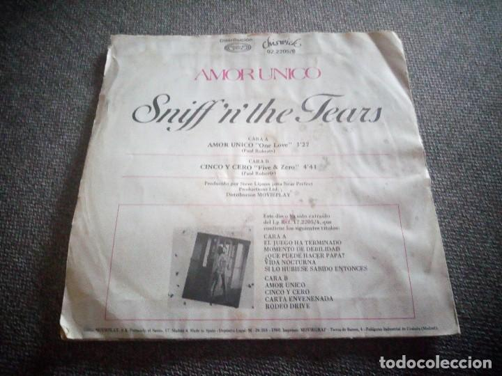 Discos de vinilo: Sniff 'n' the Tears ?– Amor Unico = One Love.1980,made in spain. - Foto 2 - 118585847