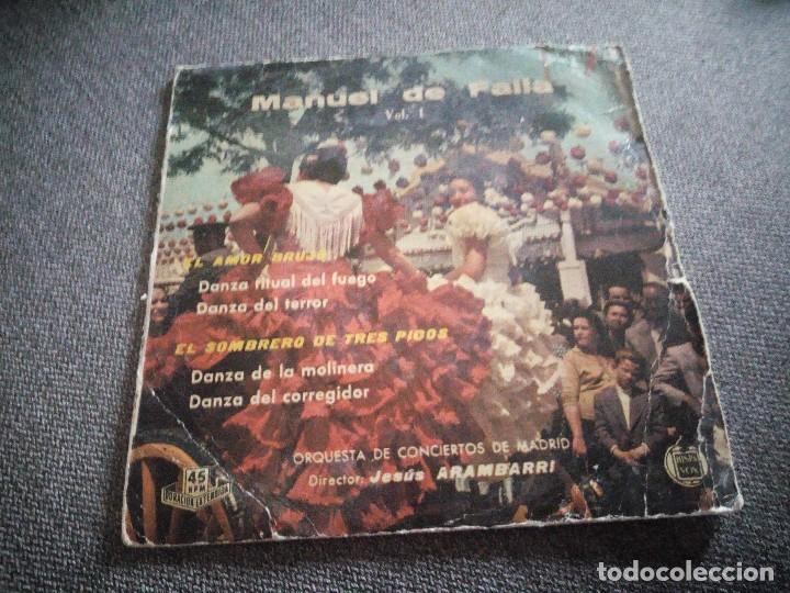 MANUEL DE FALLA ?– VOL. 1. 1959 (Música - Discos - Singles Vinilo - Clásica, Ópera, Zarzuela y Marchas)