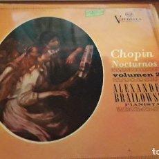 Discos de vinilo: CHOPIN. NOCTURNOS. VOLUMEN 2. ALEXANDER BRAILOWSKY. EDICIÓN RCA DE 1966. Lote 118587303
