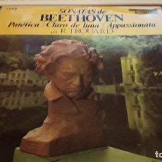Discos de vinilo: SONATAS DE BEETHOVEN. R. TROUARD. EDICIÓN DISCOPHON. Lote 118588739