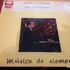 Discos de vinilo: MALCUZYNSKI. CHOPIN. SIX POLONAISES. EDICIÓN EMI DE 1967 MUY RARA. Lote 118589859