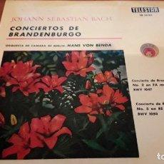 Discos de vinilo: BACH. CONCIERTOS DE BRANDENBURGO. HANS VON BENDA. EDICIÓN RCA DE 1964 RARA. Lote 118590399