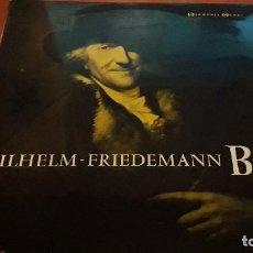 Discos de vinilo: WILHELM FRIEDEMANN. BACH. EDICIÓN HARMONIA MUNDI. RARO. Lote 118590979
