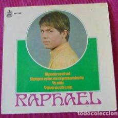 Discos de vinilo: RAPHAEL - AL PONERSE EL SOL + 3 - EP. Lote 118630051