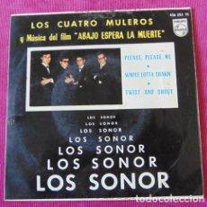 Discos de vinilo: LOS SONOR - LOS CUATRO MULEROS + 3 - E.P. - PHILIPS 1964. Lote 118630291