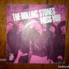 Discos de vinilo: THE ROLLING STONES - MISS YOU + FAR AWAY EYES . Lote 118632667