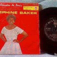 Discos de vinilo: JOSEPHINE BAKER - EN AVRIL À PARIS / APRIL IN PARIS / SOUS LES TOITS DE PARIS / MON PARIS - EP SPAIN. Lote 118650915